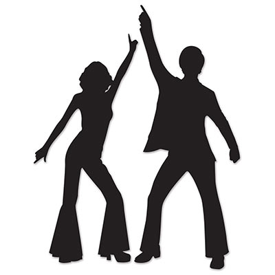 DISCO DANCER SILHOUETTES - PACK OF 2
