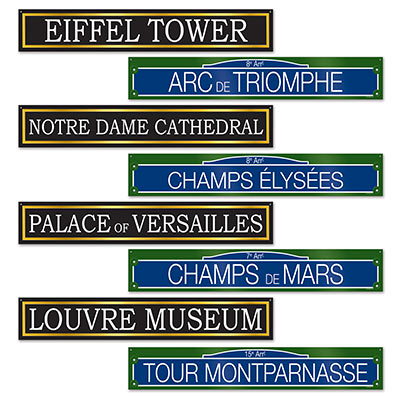 FRENCH STREET SIGNS - PACK OF 4