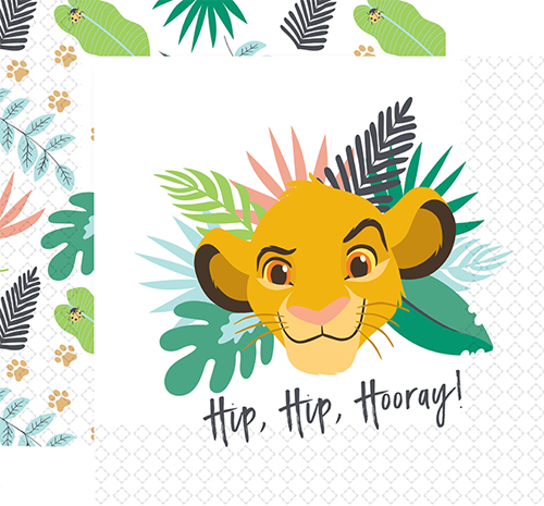 LION KING LUNCH NAPKINS - PACK OF 16