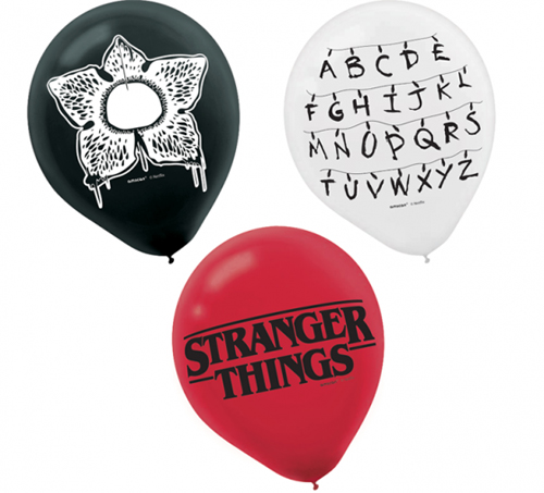 BALLOONS LATEX - STRANGER THINGS PACK OF 6