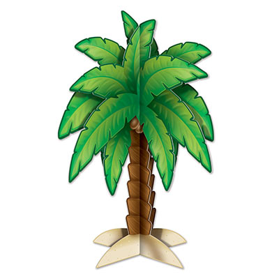 PALM TREE 3D TROPICAL HAWAIIAN CENTREPIECE
