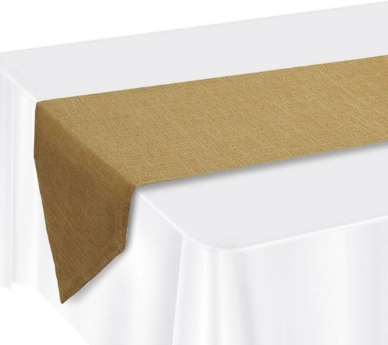 NATURAL HESSIAN TABLE RUNNER 3.65M