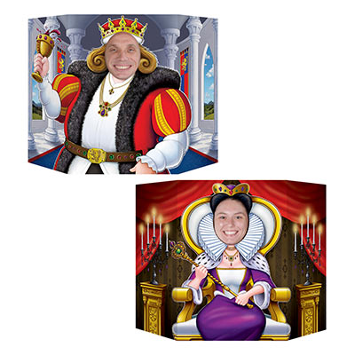KING & QUEEN DOUBLE-SIDED PHOTO PROP