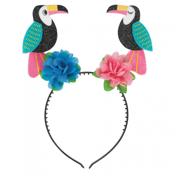 HAWAIIAN LUAU TOUCAN BIRDS HEAD BOPPER