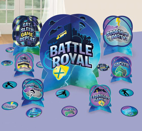 FORTNITE BATTLE ROYALE PARTY TABLE DECORATING KIT