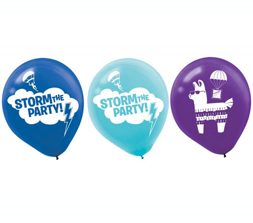 FORTNITE BATTLE ROYALE LATEX BALLOONS - PACK OF 6