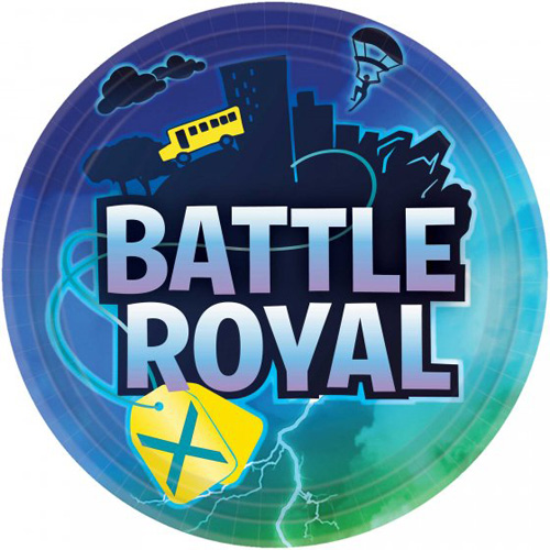 FORTNITE BATTLE ROYALE BIRTHDAY DINNER PLATES - PACK OF 8