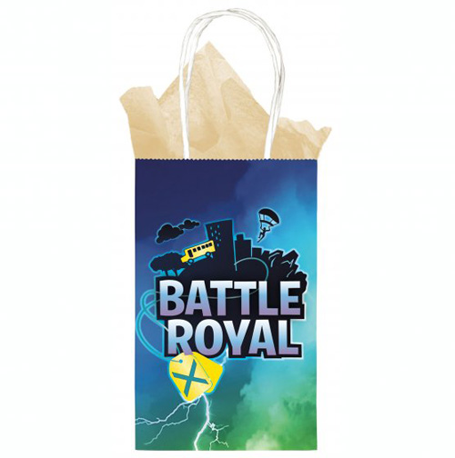 FORTNITE BATTLE ROYALE PARTY KRAFT BAGS - PACK OF 8