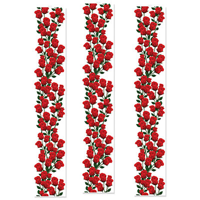 MELBOURNE CUP CARNIVAL ROSE PARTY PANELS - PACK OF 3