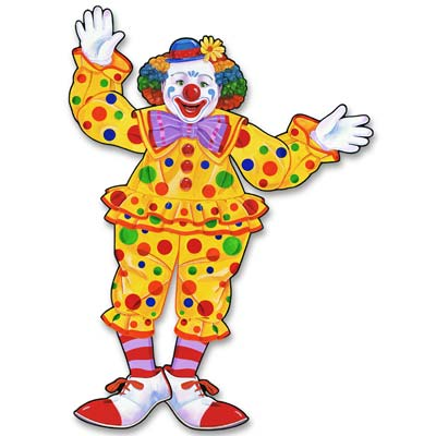 CLOWN JOINTED CUTOUT LARGE 76CM