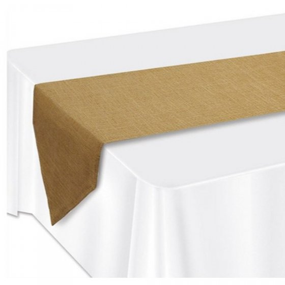 NATURAL HESSIAN TABLE RUNNER 1.83M