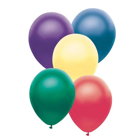 BALLOONS LATEX - FUNSATIONAL DARK PEARL ASSORTMENT PACK OF 25