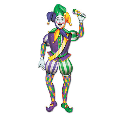 COURT JESTER JOINTED CUTOUT - MALE 97CM