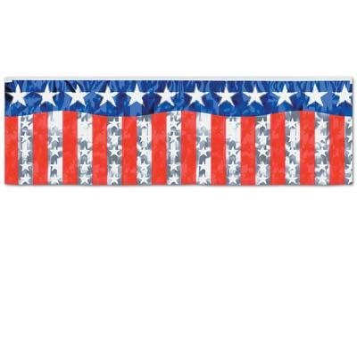 Image of American Metallic Fringe Banner