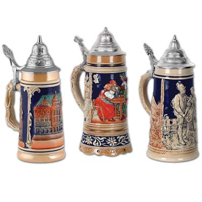 OKTOBERFEST BEER STEIN CUTOUTS - PACK OF 3