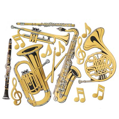 Image of Musical Instruments Cutouts  Pack Of 15