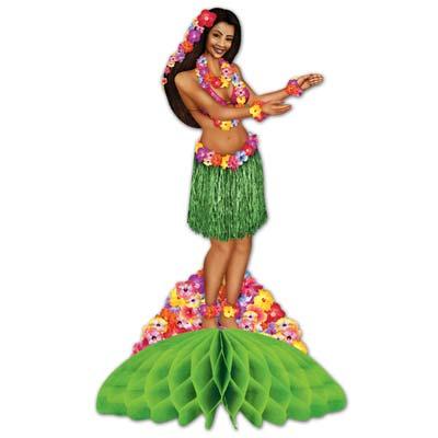Image of Honeycomb Centrepiece Hula Girl