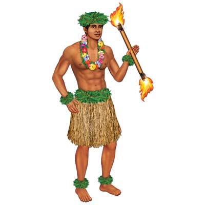 HULA POLYNESIAN DANCER MALE - JOINTED FIGURE