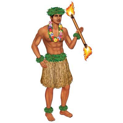 Image of Hula Polynesian Dancer Male  Jointed Figure
