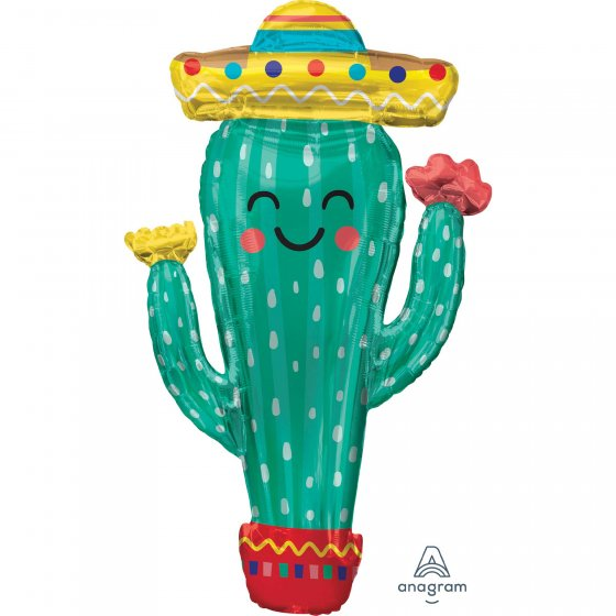 FOIL SUPER SHAPE BALLOON - FIESTA CACTUS