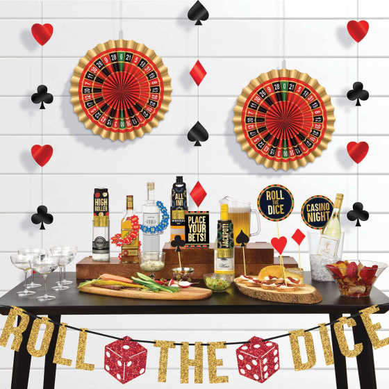 CASINO 'ROLL THE DICE' DELUXE BAR DECORATING KIT