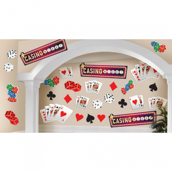 CASINO 'ROLL THE DICE' CUTOUTS VALUE PACK OF 30