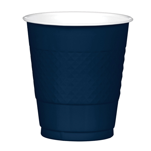 DISPOSABLE CUPS TWO TONE - NAVY BLUE PACK 20