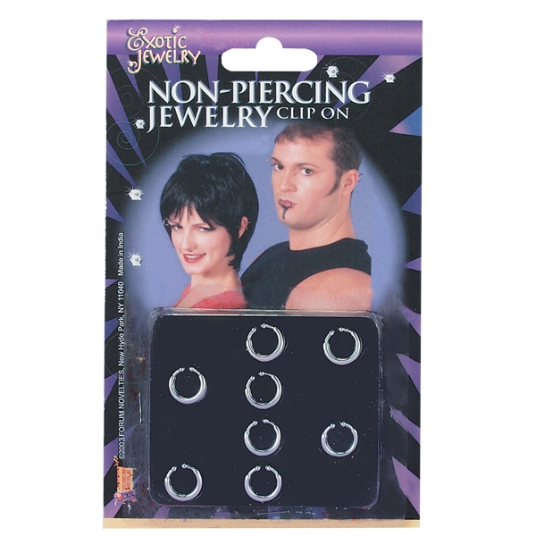 CLIP-ON NON-PIERCING PUNK JEWELLERY