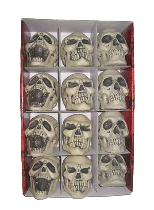 REALISTIC SKULLS IN ASSORTED DESIGNS - 11CM