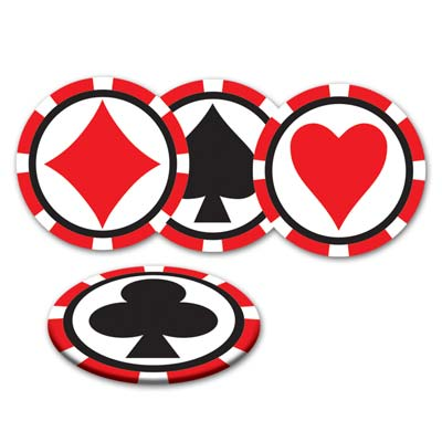 CASINO DRINK COASTERS PACK OF 8