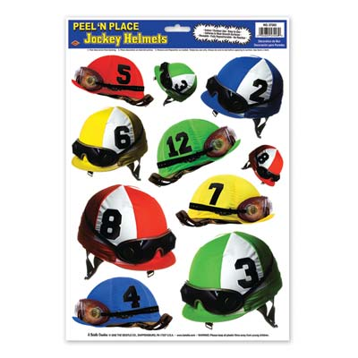 STICKERS PEEL & PLACE JOCKEY HELMETS