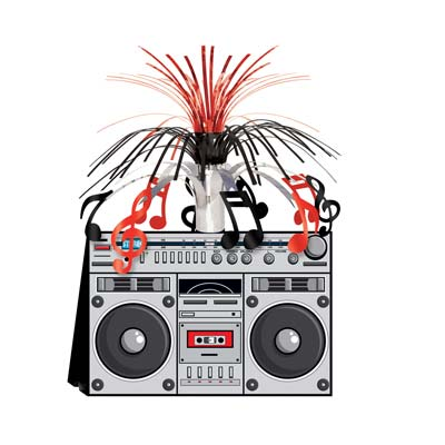 BOOM BOX ROCK \'N ROLL CENTREPIECE