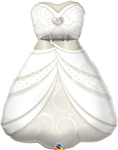 FOIL SUPER SHAPE BALLOON - WEDDING DRESS