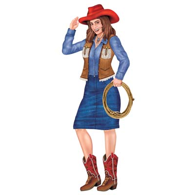 COWGIRL JOINTED CUT OUT