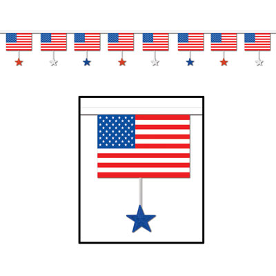 Image of American Banner Flags & Stars