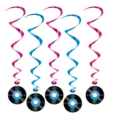 HANGING SWIRL RECORDS PACK OF 5