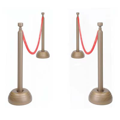 HOLLYWOOD STANCHION POST & ROPE SET