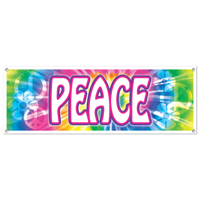 PEACE SIGN BANNER - LARGE