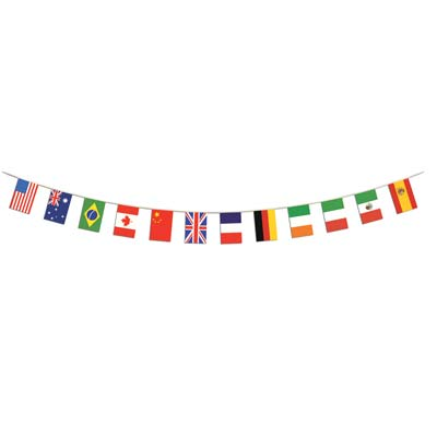 INTERNATIONAL FLAG BANNER 4.42M