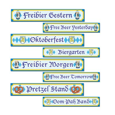 OKTOBERFEST STREET SIGNS - PACK OF 4