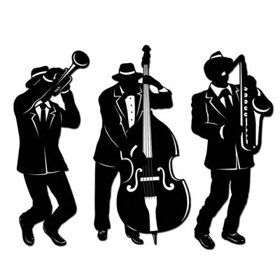 GANGSTER JAZZ TRIO CUT OUTS - PACK 3