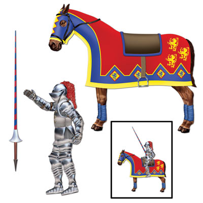 MEDIEVAL JOINTED JOUSTER & HORSE
