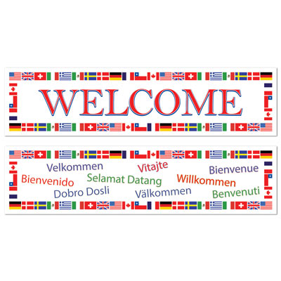 INTERNATIONAL WELCOME BANNERS PACK OF 2