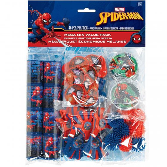 SPIDERMAN PARTY FAVOUR PACK OF 48