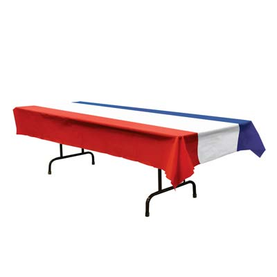 PATRIOTIC FLAG - RED, WHITE & BLUE STRIPE TABLECOVER