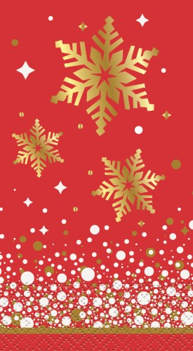 GOLD SPARKLE CHRISTMAS FOIL STAMPED GT FOLD NAPKINS - PACK OF 16