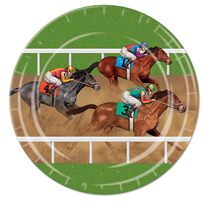 MELBOURNE CUP HORSE RACING PLATES - PACK OF 8