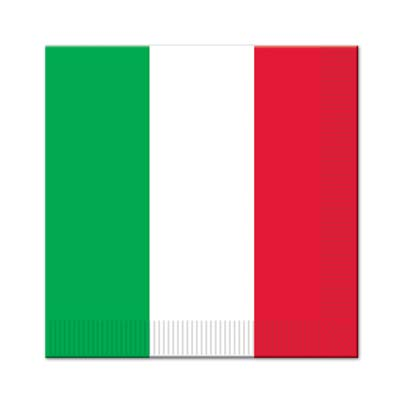 ITALIAN FLAG LUNCH NAPKINS - PACK OF 16
