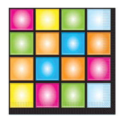 DISCO DANCE FLOOR LUNCH NAPKINS - PACK OF 16