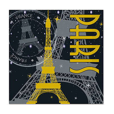 French paris scene lunch napkins
